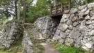 佐伯城 二の丸虎口と廊下橋と堀切…