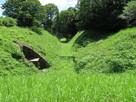 戌亥櫓跡と本丸間の堀切…