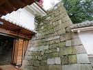 山里口御門入り口の石垣…