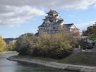 岡山城① 本丸天守を月見橋より望む