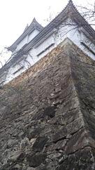 高石垣と備中櫓…