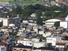 曲輪跡の天翔の櫓から見た水口城…