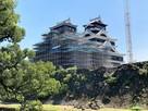 加藤神社からの天守(2020年9月)…