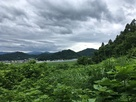 直江本陣から長谷堂城を見る…