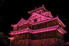ピンクリボンライトアップ福知山城…