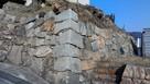 復元された石垣…