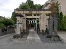 成沢八幡神社の鳥居…