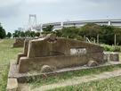 砲台とレインボーブリッジ