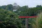 夷隅川の三口橋からの天守…