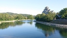 後楽園へ渡る月見橋から見た岡山城