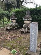 東林寺墓地にて撮影