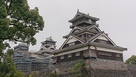 加藤神社から見た宇土櫓と天守閣・小天守…