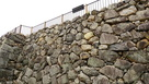 付櫓跡が分かる石垣…