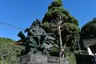 毛利元就公銅像…
