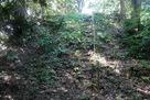 林道側の切岸