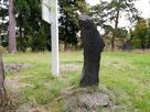 本丸の古い城跡碑…
