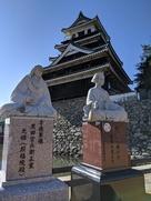 中津城と黒田夫妻