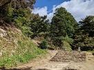本丸西虎口への石段…