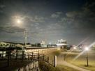 二之丸丑寅櫓と土塀と月…