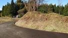 馬場跡西側の土塁…