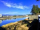 球磨川に面する城址北側…