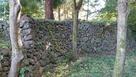 北側にある石垣…