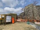 帯曲輪門付近の石垣…