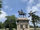 本丸 伊達政宗銅像…