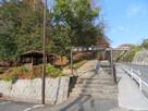 城山公園東入口の駐車場…