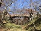 内堀からの桜雲橋…