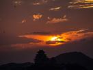 夕日と姫路城