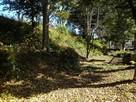 空堀と土塁