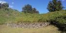 土橋下の石垣