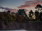 名古屋の夜明け…