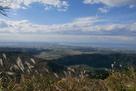 本丸から望む富山湾と富山平野…