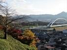 福知山城方面を望む…