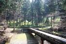 竪堀に架かる橋…