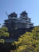 加藤神社から見た天守…