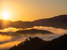 日の出の天空城…