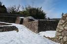 多羅城 雪の埋門石垣