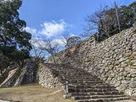 本丸大石段と本丸石垣…