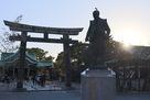 豊國神社の豊臣秀吉公の銅像…