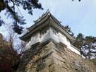 櫓を見上げる