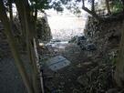 玄宮園にある東側虎口跡…
