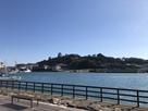平戸港から見える平戸城…