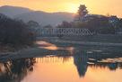 朝の岡山城