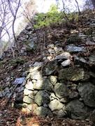 壺坂口郭の石垣…