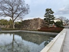 岡山県立図書館前の櫓台