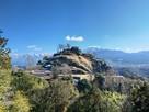 冬の苗木城全景…
