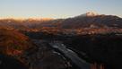 天守展望台からの冬の夕景…